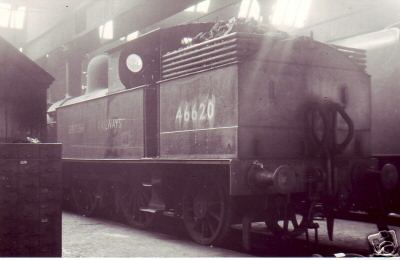 Tank locomotive in the shed