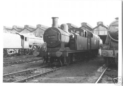 Three locomotives and the shed