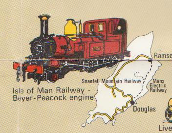 Railway History Map of Britain - Isle of Man