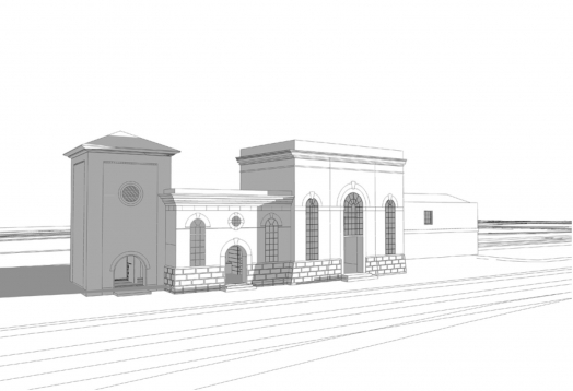 Plan of the building on platforms one and two