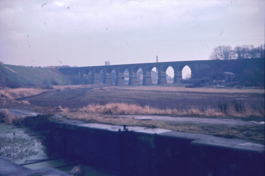 Sankey Viaduct and lock