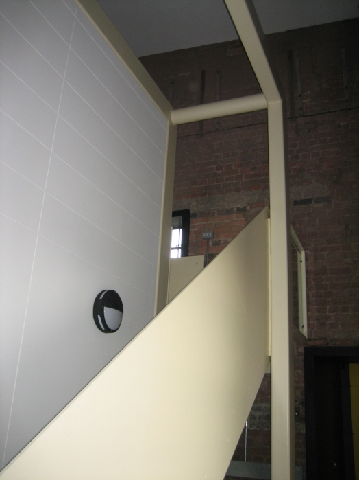 Staircase to upper engine room