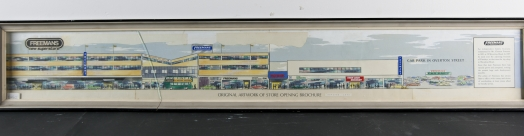 Original artwork of store opening brochure