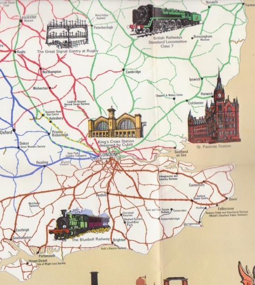 Railway History Map of Britain - South East