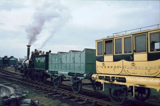 Lion with first and second class coaches