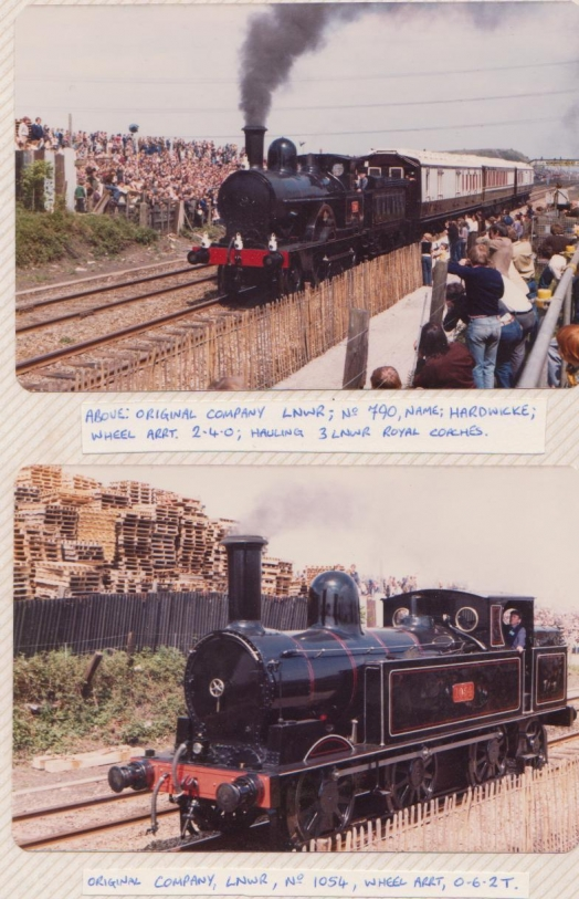 Hardwicke and LNWR 1054. at Rocket 150