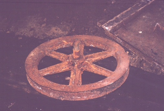 Large pulley wheel from Chatsworth Street Cutting II