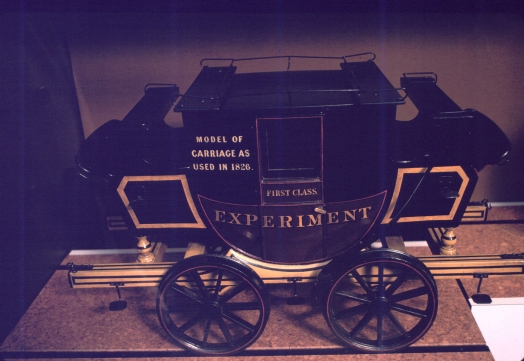 Model of Stockton and Darlington Railway coach