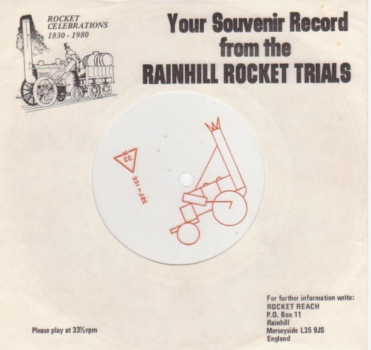 Your Souvenir Record from the Rainhill Rocket Trials