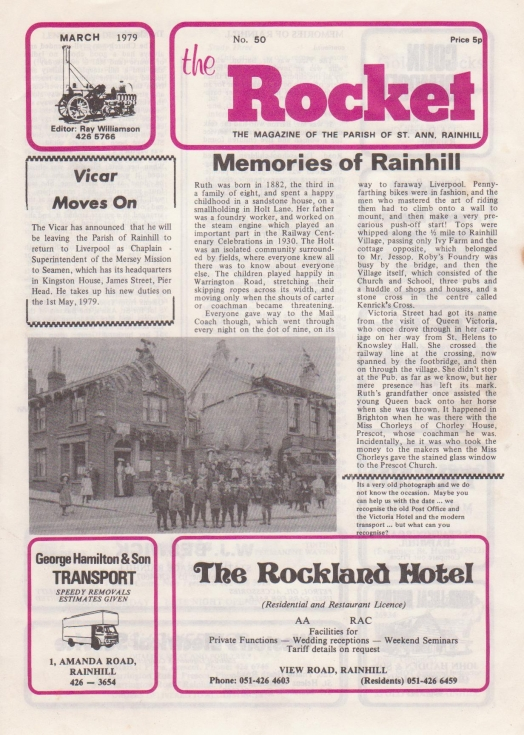 The Rocket March 1979 front page