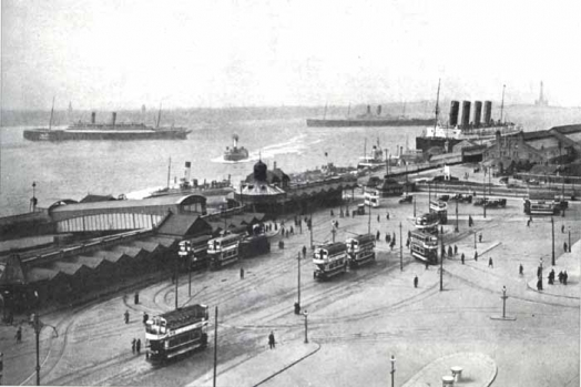 Trams on the docks
