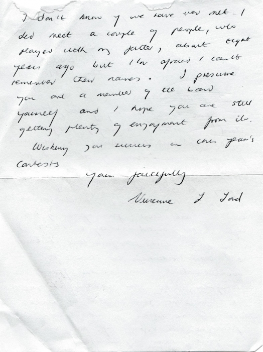 Letter from Vivienne Lord to Mr. Russell Davies 24 January 1981 page 2
