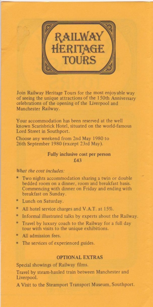 Railway Heritage Tours - accomodation