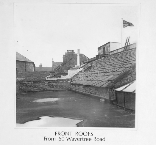 Front roofs from 60 Wavertree Road