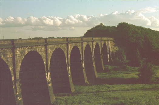 Close-up of Sankey Viaduct 1979