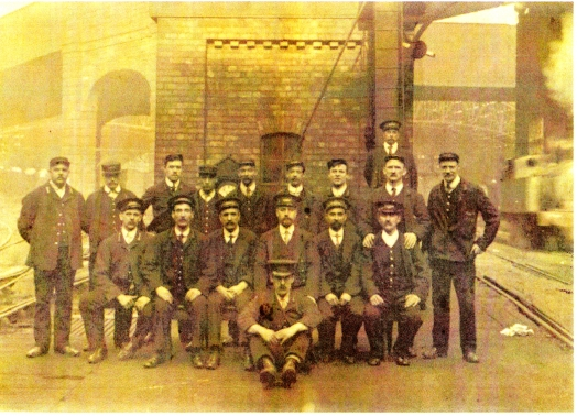 Railway workers at Lime Street