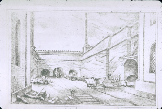 Drawing of Moorish Arch area