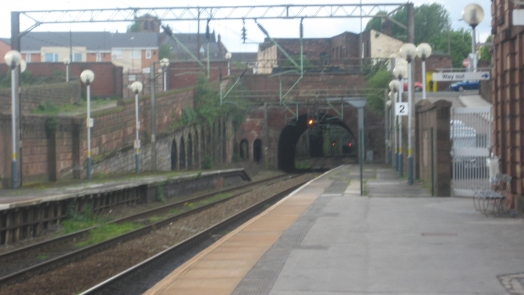 View from platform two through the tunnel