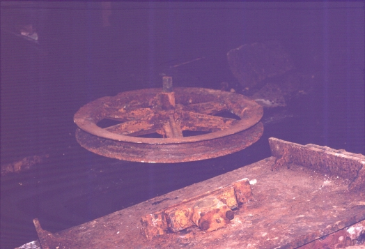 Pulley wheel from Chatsworth Street Cutting