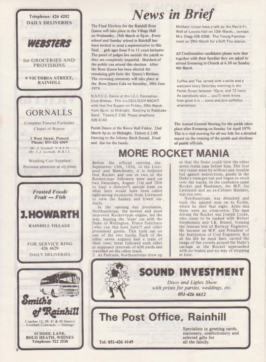 The Rocket March 1979 page six