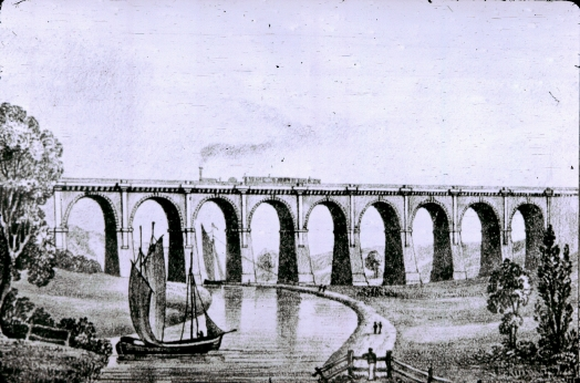 Sankey Viaduct based on Bury print II