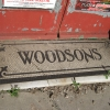 Tiled entrance to 'WOODSONS' / Pam's alterations