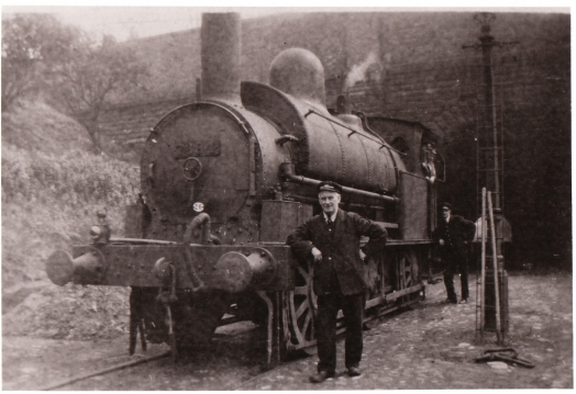 Steam Train at Edge Hill coal yard