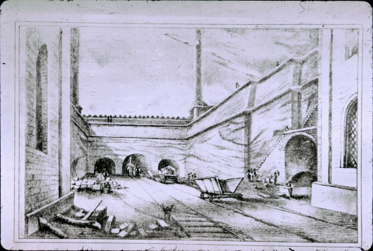Darker drawing of Moorish Arch area