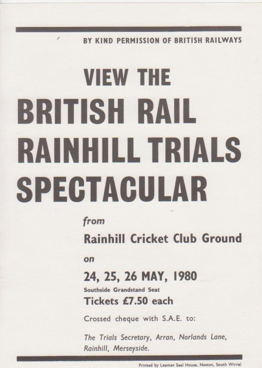 View the British Rainhill Trials Spectacular