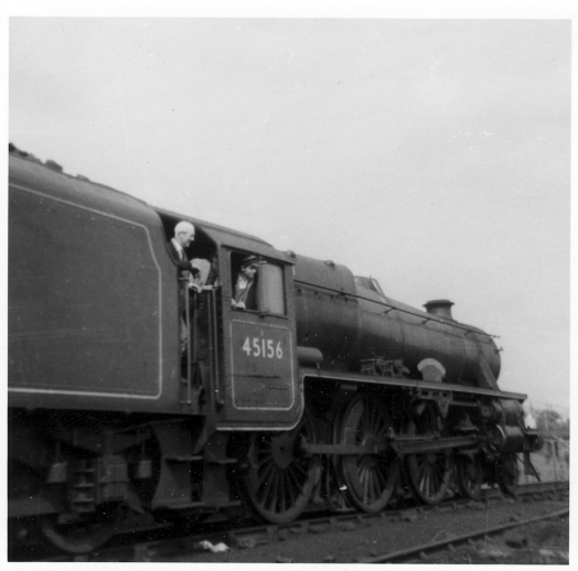 Steam Train at Edge Hill Station May 1968 Engine 45156 with Railwaymen