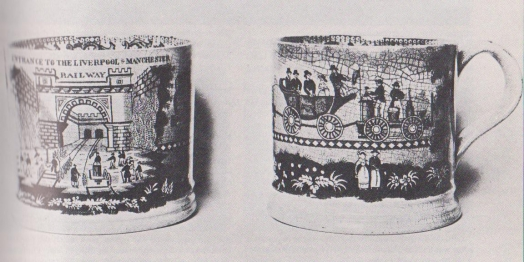 Liverpool and Manchester Railway mugs